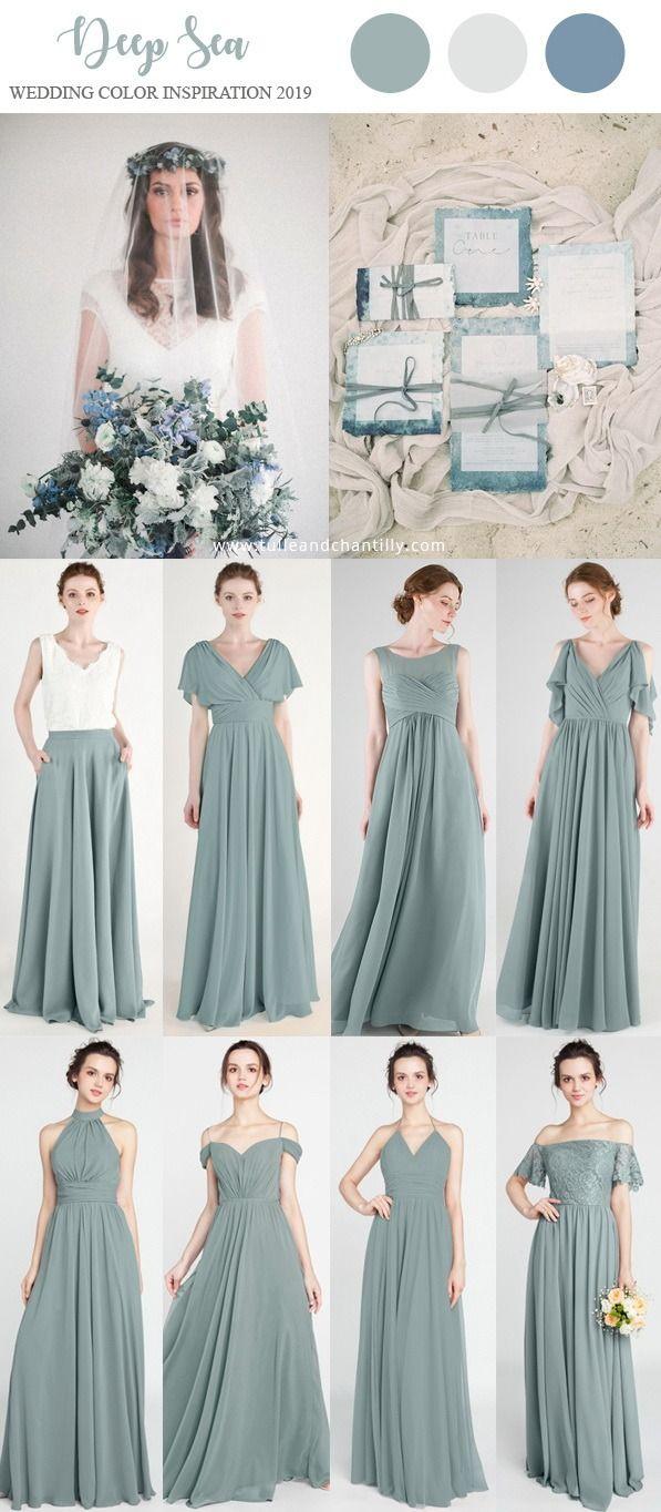 5e2b03e66e7 deep sea wedding color ideas with deep sea bridesmaid dresses  wedding   weddinginspiration  bridesmaids  bridesmaiddress  bridalparty  maidofhonor  ...