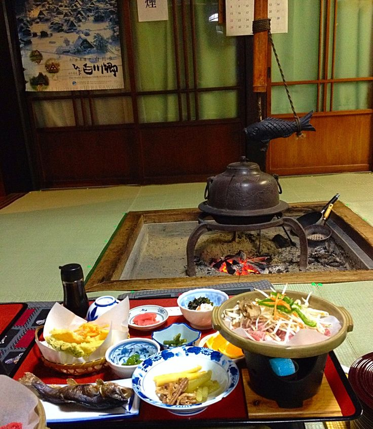Irori Hearth at Nodaniya Ryokan in Shirakawa-go, Japan