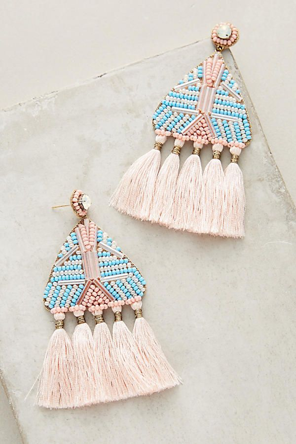 Slide View: 1: Lupita Fringe Drop Earrings