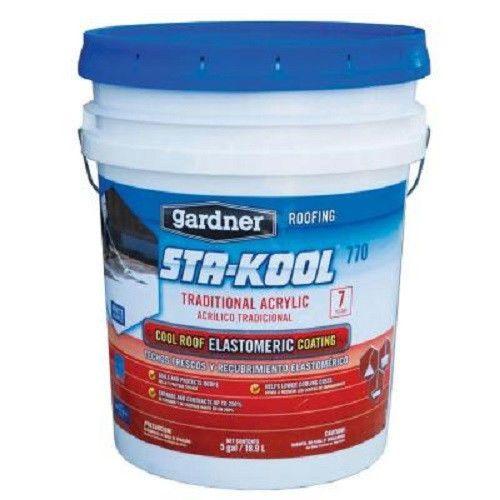 Gardner 4.75 Gallon Pail Kool Seal White Premium Elastomeric Roof Coating