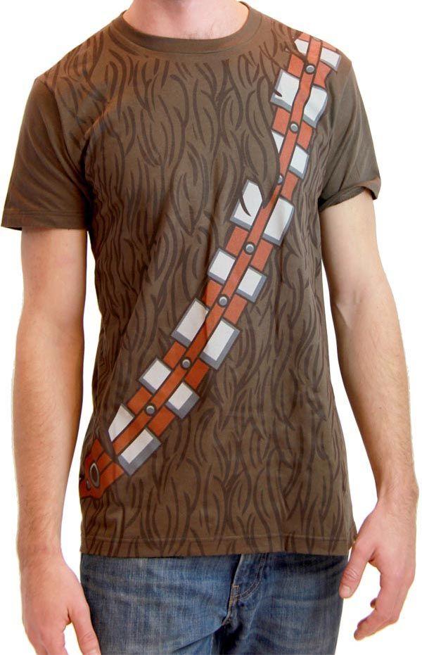 Star Wars I am Chewbacca Costume Adult Brown T-Shirt $17.95