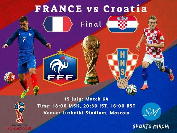 France Vs Croatia Final 2018 Fifa World Cup Live Coverage Tv Channels Fracro Football Worldcup France Croatia Fi World Cup Live World Cup Tv Channels