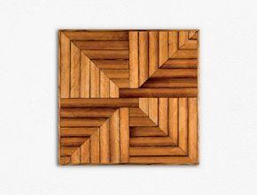 Cedro recuperado arte de pared de madera | Arte PARED geométrica | Mediados de siglo modernos | Arte de pared de madera | Arte PARED geométrica | Arte moderno |