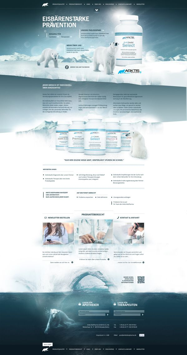 Arktis Biopharma by RODVIG | #webdesign #it #web #design #layout #userinterface #website #webdesign < repinned by www.BlickeDeeler.de | Take a look at www.WebsiteDesign-Hamburg.de