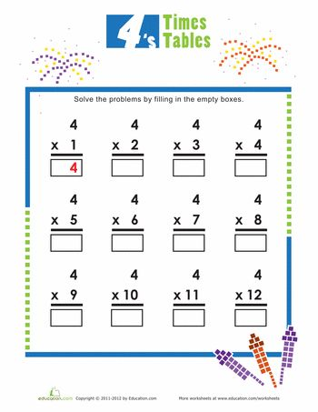 1000+ ideas about Times Tables Worksheets on Pinterest