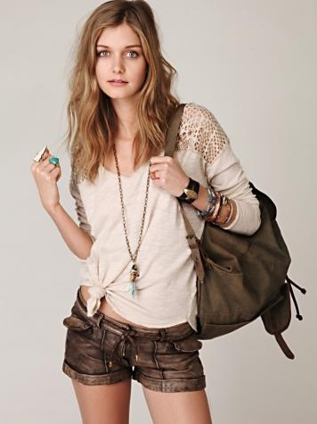free people love.Leather Shorts, Fashion, Shirts Diy, Style, Clothing, Add Lace, Free People, Jeans Shorts, Dreams Closets