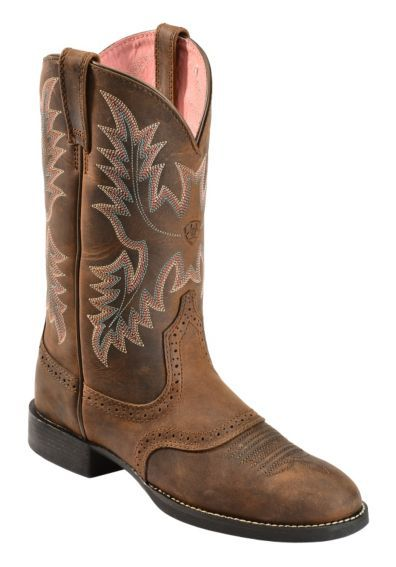 Ariat Heritage Stockman Saddle Vamp Cowgirl Boots - Round Toe - Sheplers