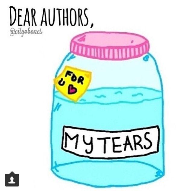 This jar is too small---> tenho certeza que todas as lágrimas que eu já derramei por personagens ou pelas histórias não cabem aí