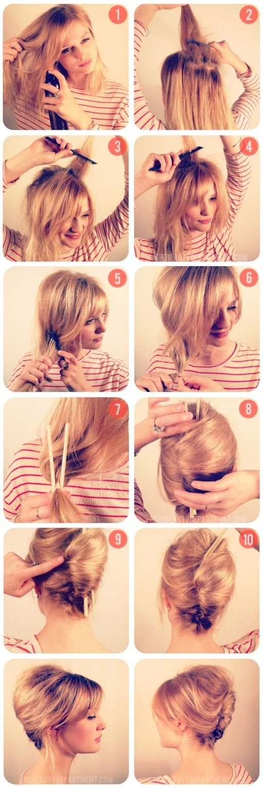 #TBD Chopstick Chignon Tutorial | Awesome!