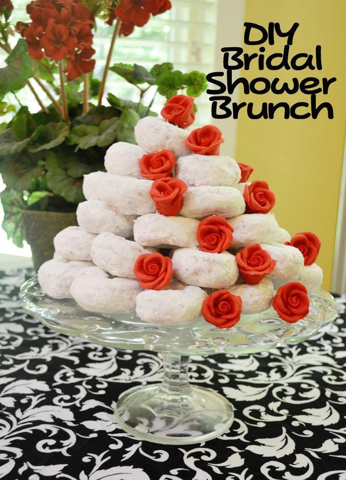 DIY bridal shower brunch Red Damask