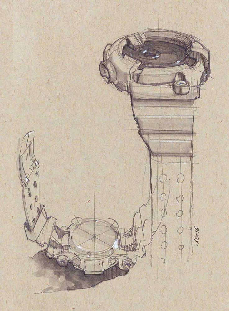 Casio G-shock Frogman sketch. Sketching watches I love since the one I design are confidential ;) @wrenchbone