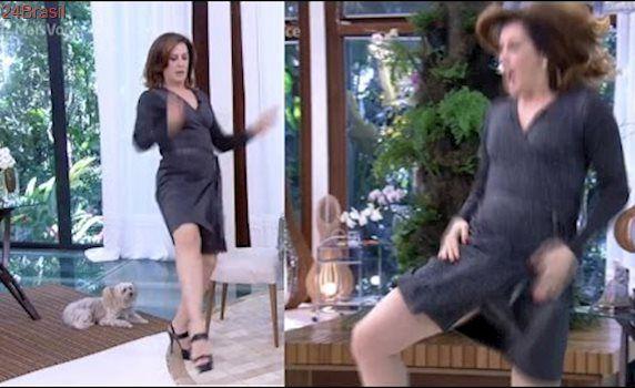 Claudia Raia mostra que aprendeu a dançar o funk MEU PAU TE AMA no Mais Você de 24/03/2017