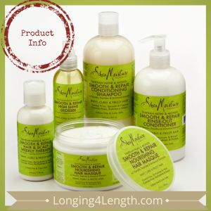 Review: SheaMoisture Tahitian Noni & Monoi Smooth & Repair Hair Care by Longing4Length.com