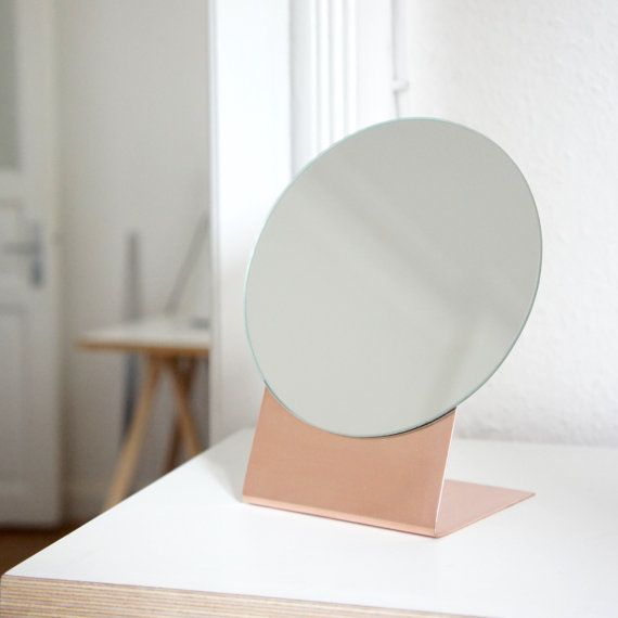Brass table mirror by Calvill on Etsy