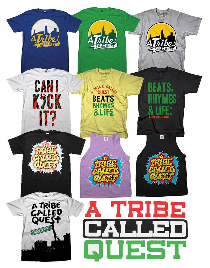 A Tribe Called Quest Various Designs T Shirt New s M L XL XXL Authentic | eBay