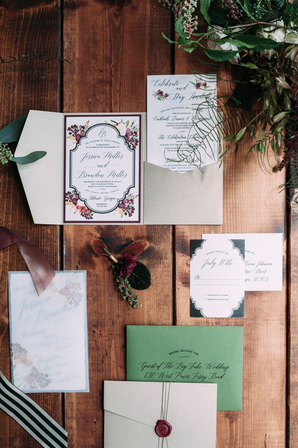 Vintage London Wedding Inspiration Garden Wedding InvitationsWedding