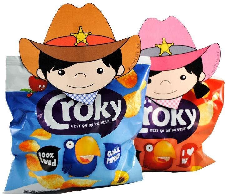 Cowboy & cowgirl traktatie knijpers