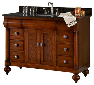 We like this piece, but not necessarily the pulls.  Would have to be smaller for our space.  Kaco John Adams Vanity - Traditional - Bathroom Vanities And Sink Consoles - PoshHaus