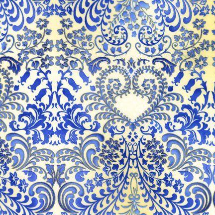 Robert Kaufman Fabrics: APTM-5574-62 INDIGO by Peggy Toole from Fusions® 5574
