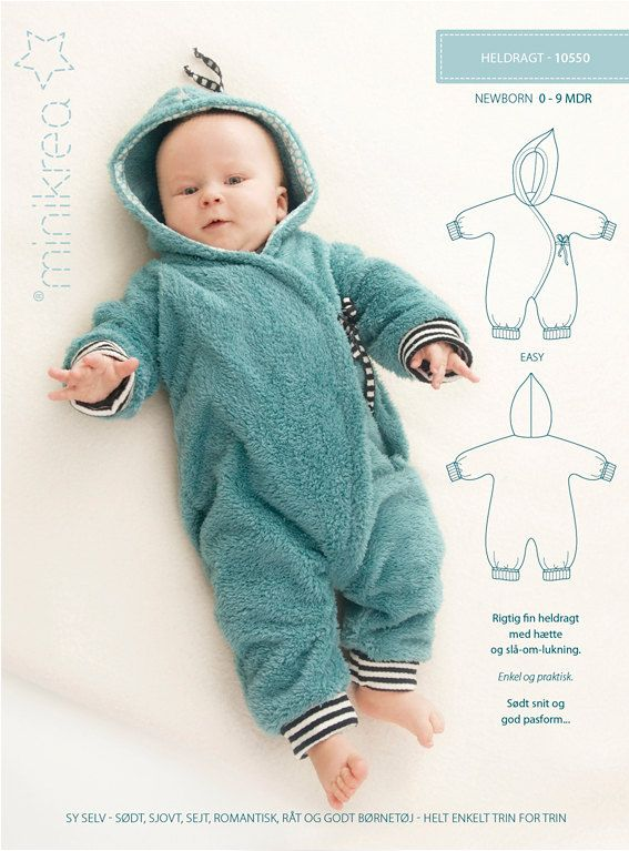 10550 - BUNTING suit bunting bag - Minikrea Denmark Sewing PATTERN - newborn 0-9 months