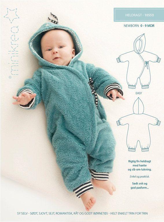 Bunting Suit / Bunting Bag - 10550 - Minikrea sewing pattern - newborn - 9mo (4823.90.00.95)
