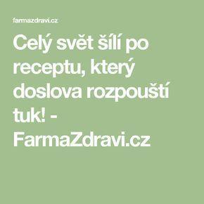 Celý svět šílí po receptu, který doslova rozpouští tuk! - FarmaZdravi.cz