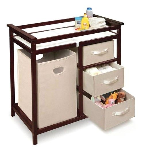Modern Changing Table with 3 Baskets and Hamper : So far so good for us! Baby is not here yet but it looks great in the nursery and we cannot wait to use it. Will update if needed.