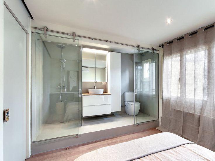Baño Infantil Corona:CUARTO DE BAÑO INTEGRADO Las dimensiones reducidas del baño situado