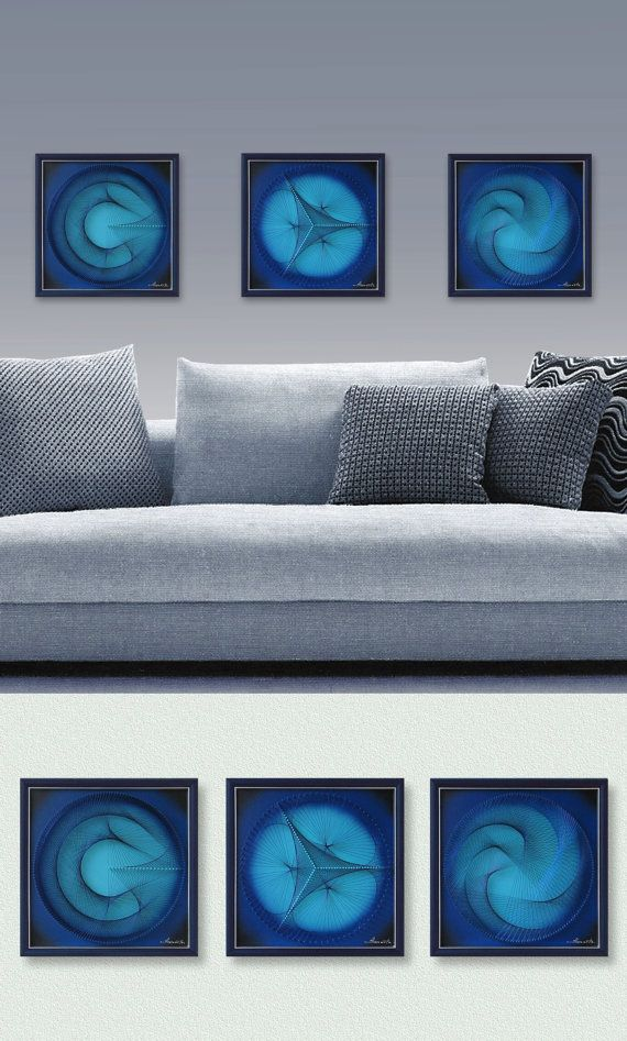 Wall Decor for Home or Office 3D Abstract String by FeniksArtDeco