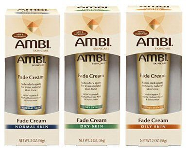 Ambi Fade Cream for blemishes and dark spots. I have been using this and saw results in just 2 days! It may not work for everyone but I like it