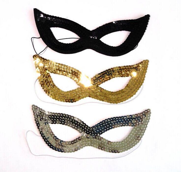 Блесток маска для глаз необычные платья бал-маскарад ну вечеринку выпускного вечера кошка женщина кошка 7 цвета