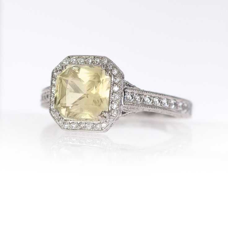 Yellow Sapphire Engagement Ring Exclusively At Soho Gem
