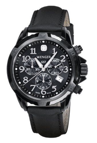Wenger Men's 78254 GST Chrono Black PVD Black Leather Watch Wenger. Save 35 Off!. $359.68