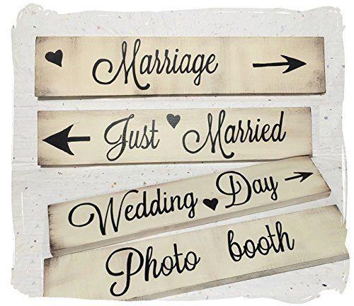 Cartelli per matrimonio shabby , in legno, fatti a mano