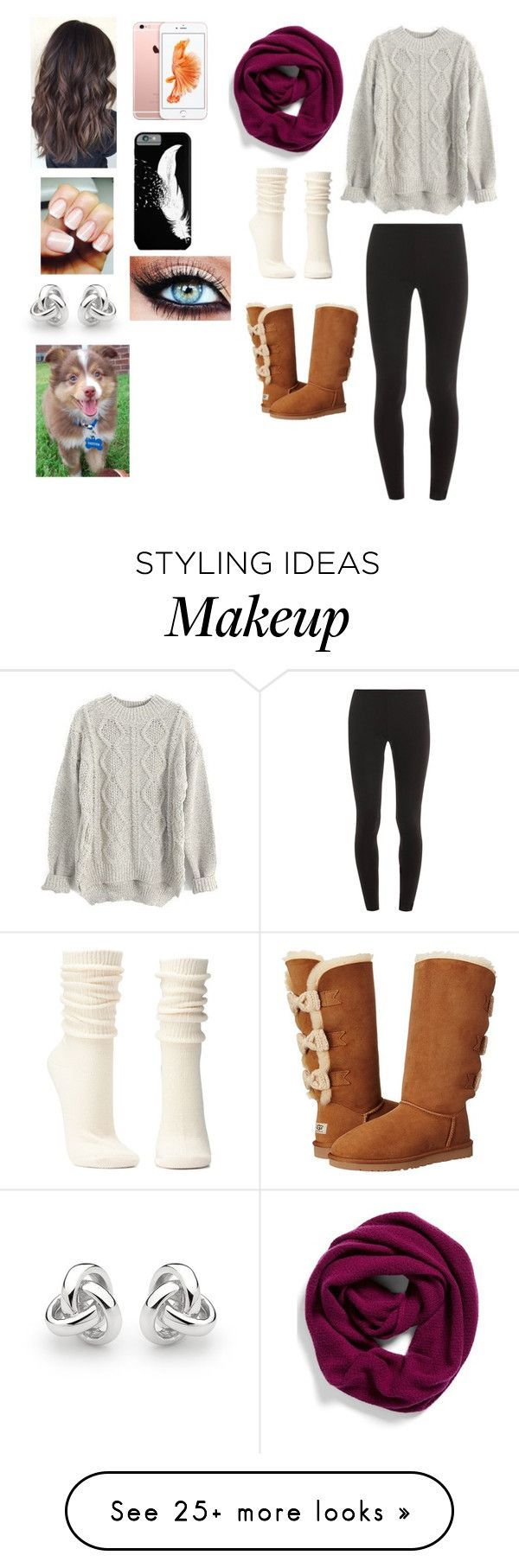 """""""Winter outfit"""" by kaitlynk1222 on Polyvore featuring Halogen, Splendid, UGG Australia, Charlotte Russe and Georgini"""