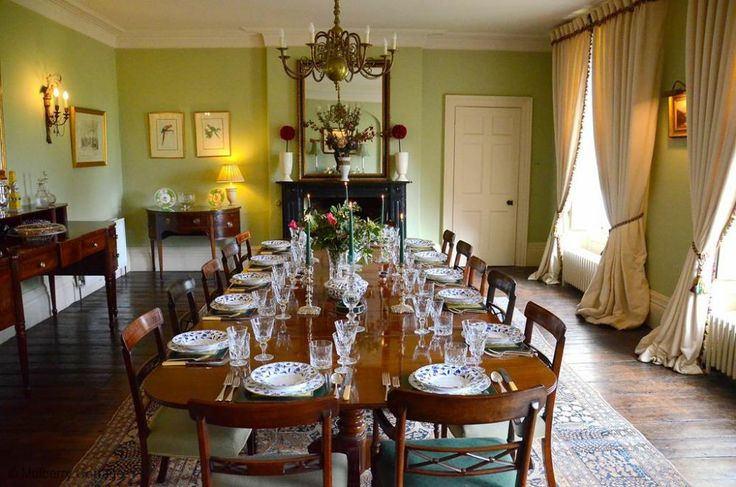 Beautiful dining room to entertain family or friends at The Old Rectory in Sussex.  Large holiday home to rent in South East England.