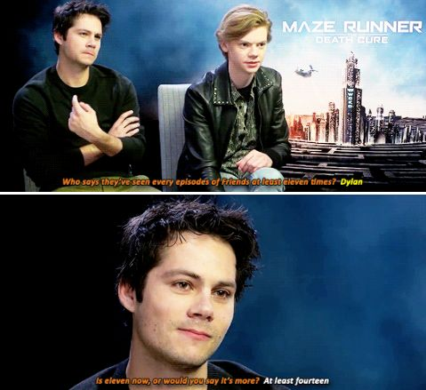 Maze Runner cast - Dylan O´Brien and Thomas Brodie-Sangster