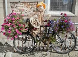 bicycles outside a french cafe