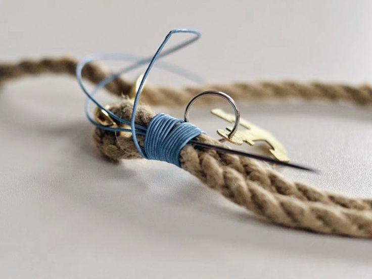 DIY-Anleitung: Seefahrer-Halsband für Hunde basteln via DaWanda.com