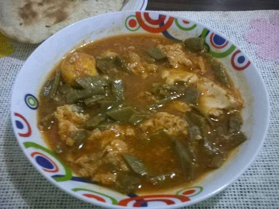 Nopalitos en salsa de chile guajillo con huevos ahogados (Olla de cocción lenta-SlowCooker-CrockPot)