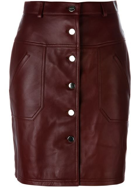 CARVEN Buttoned Pencil Skirt. #carven #cloth #skirt