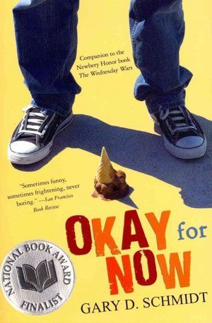 NPR's Ultimate Backseat Bookshelf for kids 9-14 100 Must Reads including Okay for Now by Gary D. Schmidt (one of my favorite books for middle schoolers)