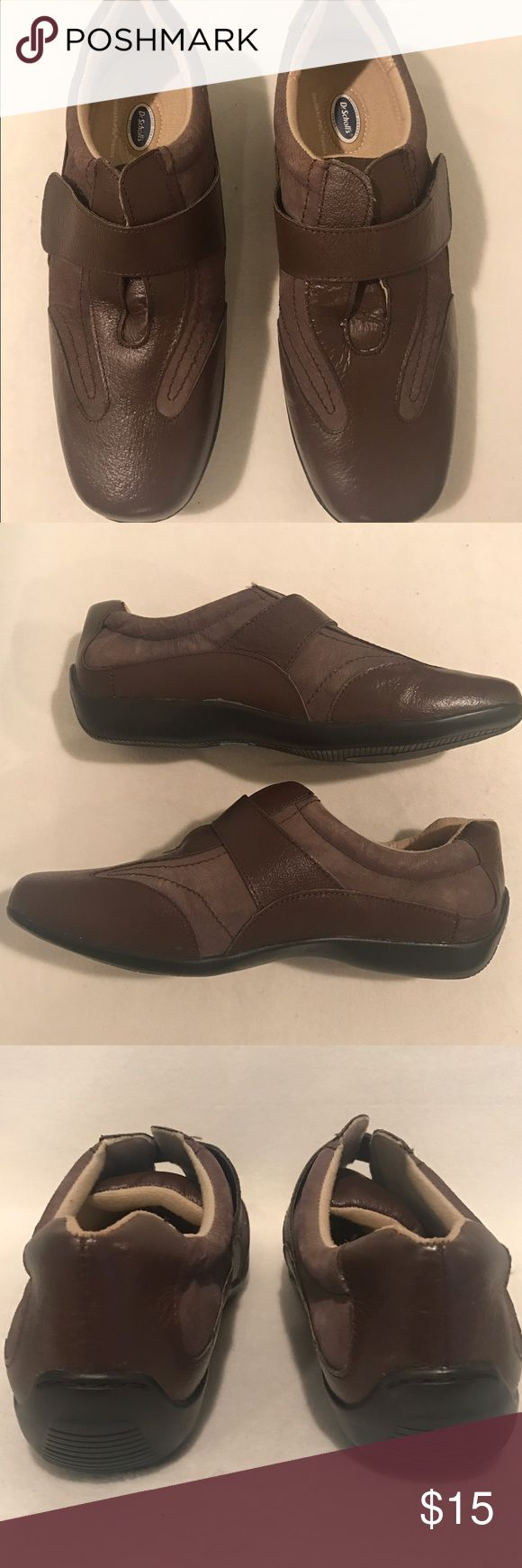 NWOT DR. SCHOLL'S Women's Shoes Sneakers Velcro Dr. SCHOLL'S Women's brown athletic or casual shoes. Velcro enclosure. Wide fit  Condition: Brand new never worn. No box or tag  Series: Advanced Comfort Series. Double-air Pillo Insoles Material: Leather upper Size: 9W  Color: Brown Dr. Scholl's Shoes Sneakers