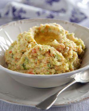 Stoemp van aardappel, wortel en prei