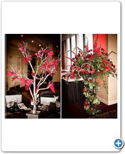 decoratie-bruiloft-rood-takken-vlinders