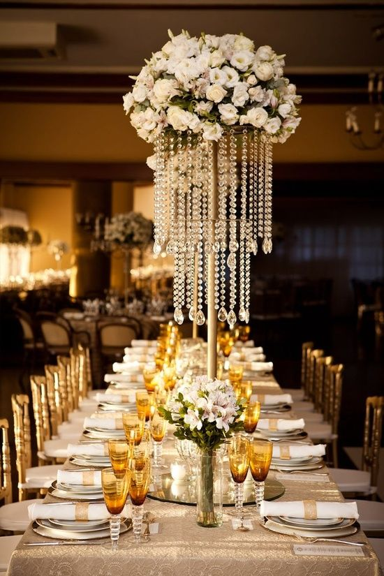 Cute crystal centerpieces ideas on pinterest