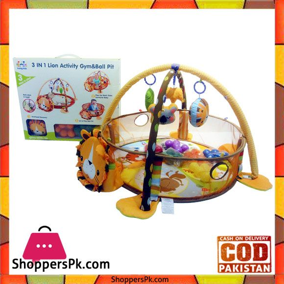 On Sale: 3 in 1 Lion Soft Baby Activity Gym Baby Ball Pit Baby Play Mat With Sides in Pakistan Price Rs. 2840 https://www.shopperspk.com/product/3-in-1-lion-soft-baby-activity-gym-baby-ball-pit-baby-play-mat-with-sides/