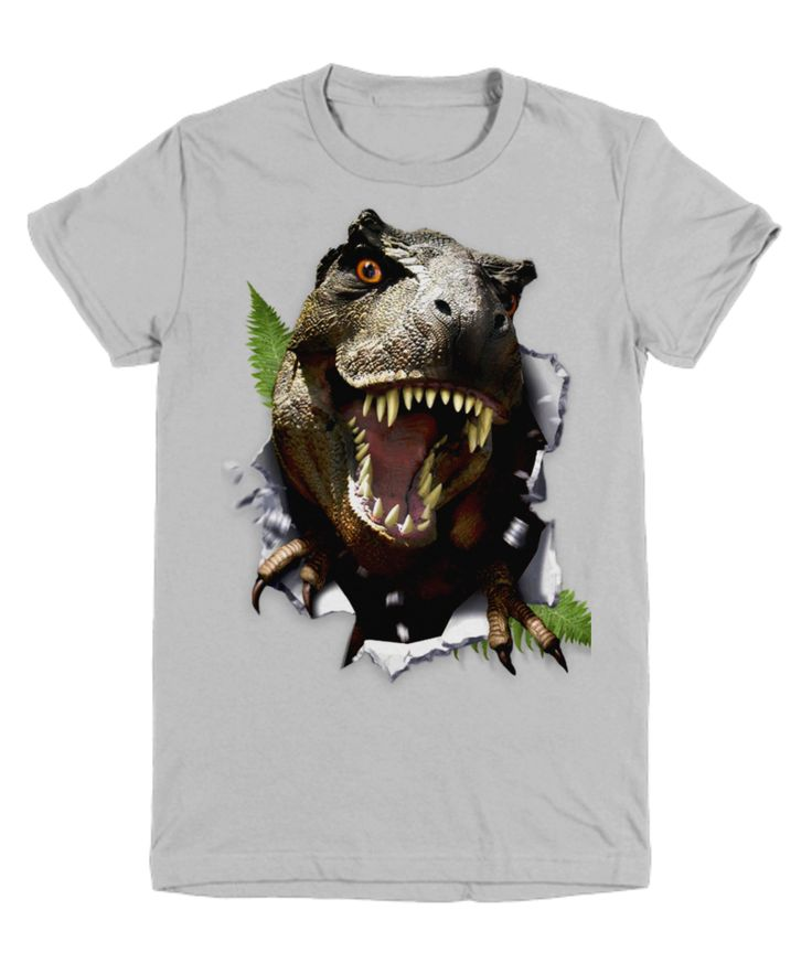 Rippin' T-Rex Dinosaur Youth Kids Child T Shirt available on line at Wiki Tiki Tees