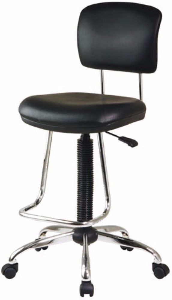 office star space drafting chair. office star chrome adjustable swivel drafting chair with footrest black new   chair, and space k