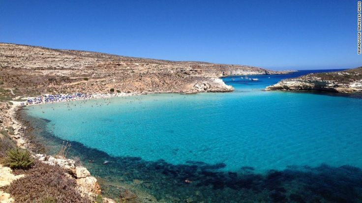 Rabbit Beach, Italy - Rabbit Beach on the Italian Island of Lampedusa moved up one spot from 2014 to become the No. 3 beach in the world, according to the year's Travelers' Choice list. Visit from May to September for the best swimming weather.